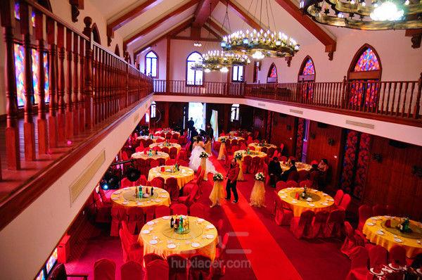 结婚礼堂背景图素材
